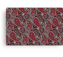 Pushie Paisley Pattern Chrome Canvas Print