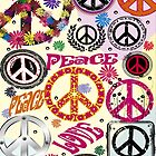 Flower Power Peace And Love Hippie iPad / iPhone 4 / iPhone 5  Case / Samsung Galaxy Cases / Pillow / Tote Bag / Duvet by CroDesign