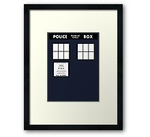 Tardis Door (Version 2) Framed Print