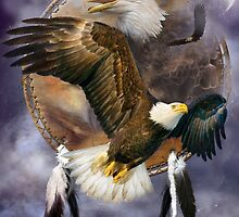 Dream Catcher - Spirit Eagle by Carol  Cavalaris
