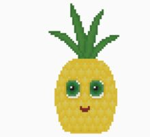 Pineapple Pixel Smile - White Background Kids Clothes