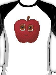 Apple Pixel Smile - White Background T-Shirt