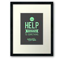 I Need Help Framed Print