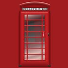 London Red Phone CallBox Prints / iPad Case / iPhone 5 Case / iPhone 4 Case  / Samsung Galaxy Cases / Pillow / Tote Bag / Duvet by CroDesign