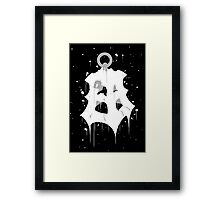 Thresh Lantern Ink Black Framed Print