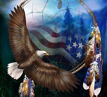 Dream Catcher - Freedom's Flight by Carol  Cavalaris
