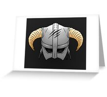 Skyrim Helmet Greeting Card
