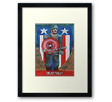 You Too Can Be A Hero Just Like Cap! Framed Print