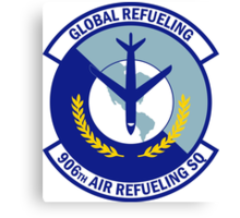 906th Air Refueling Squadron - Global Refueling Canvas Print
