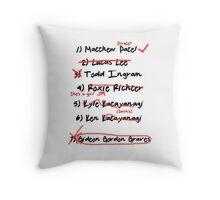 List of exes Throw Pillow