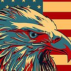 American Patriotic Eagle  by CroDesign