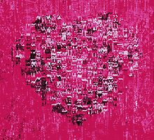 pink heart by Fiona Gardner
