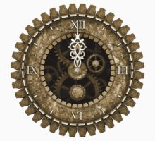 Steampunk Clock Face in Sepia by Steve Crompton