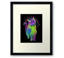 Psychic Psychedelic Cat Framed Print