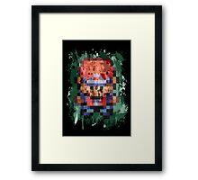 16-Bit Red Splatter Framed Print