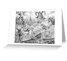 A mad tea-party Greeting Card