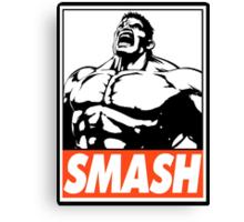 Hulk Smash Obey Design Canvas Print