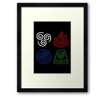 Four Elements Minimalist Framed Print