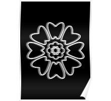 Minimalist White Lotus Poster