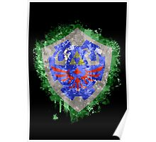 Hylian Shield Splatter Poster
