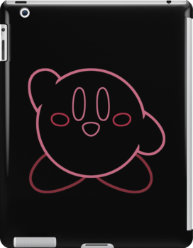 Minimalist Kirby With Face by Colossal