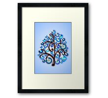 Blue Glass Ornaments Framed Print