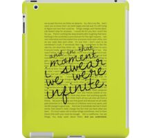 We Were Infinite - Quotes - Green iPad Case/Skin