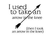 Arrow in the knee - 1 Photographic Print