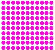 Pink polka dot on white collection by joanne79