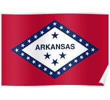 Arkansas State Flag Poster