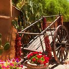 Cart in the Garden by Linda Gregory