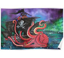 A Pirates Tale - Attack Of The Mutant Octopus Poster