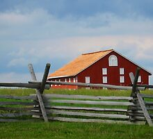Red Barn, Gettysburg Battlefield, PA, Fine Art Print by lifetravelphoto