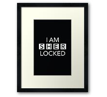 Sherlocked Framed Print