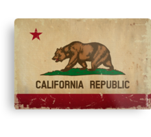 California State Flag VINTAGE Metal Print