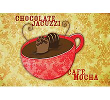What my Coffee says to me -  Chocolate Jacuzzi Photographic Print