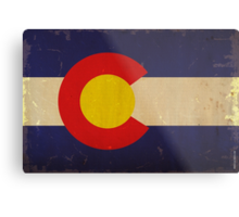 Colorado State Flag VINTAGE Metal Print