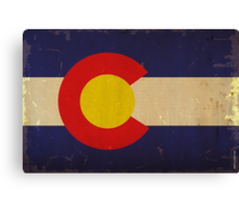 Colorado State Flag VINTAGE Canvas Print