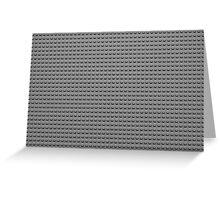 Building Block Brick Texture - Gray Greeting Card