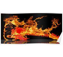 guitar fire Poster