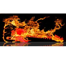 guitar fire Photographic Print