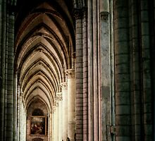 Sth Aisle Cathedral St Etienne Chalons Sur Marne France 198405060055 by Fred Mitchell