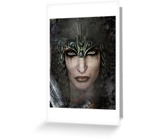 Who Can Stand-Female Warrior Greeting Card