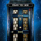 Sale for Charity Blue Phone Box with 221b number by Latifa Salma lufa Poerawidjaja