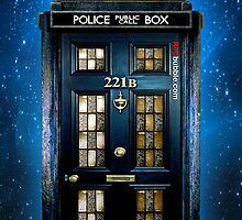 Blue Phone Box with 221b number by Latifa Salma lufa Poerawidjaja