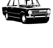 Fiat 124 Saloon by garts