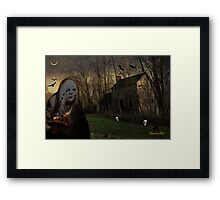 The Skull Collector Ghoul at Work Framed Print