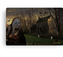 The Skull Collector Ghoul at Work Canvas Print