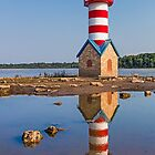 Grafton Lighthouse in Illinois by Kenneth Keifer