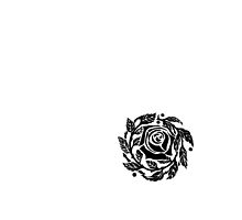 Rose Outline Black by roseandfox